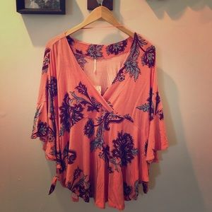 Free People Passion Flower Combo Blouse